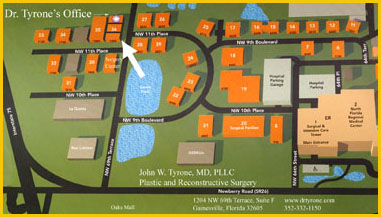 Map to Dr. Tyrone's Office